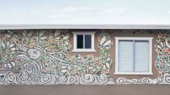 photo of a White Spirit Tree Mosaic Mural
