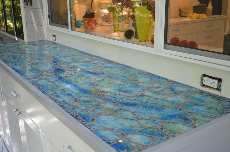 Glass Mosaic Countertop Moonfish Artworks