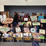 architectural mosaics co-creating mosaic art community art community mosaic glass mosaic glass mosaic mural mural art school art mosaic urban mosaic art youth mosaics  Hogan Middle School Mosaic Mural Completed!! 2014-05-05-13.54.44-150x150