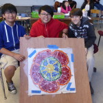 architectural mosaics co-creating mosaic art community art community mosaic glass mosaic glass mosaic mural mural art school art mosaic urban mosaic art youth mosaics  Hogan Middle School Mosaic Mural Completed!! P1010987-150x150