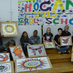 architectural mosaics co-creating mosaic art community art community mosaic glass mosaic glass mosaic mural mural art school art mosaic urban mosaic art youth mosaics  Hogan Middle School Mosaic Mural Completed!! hogan_after_school-150x150