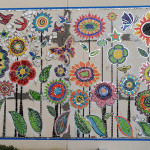 architectural mosaics co-creating mosaic art community art community mosaic glass mosaic glass mosaic mural mural art school art mosaic urban mosaic art youth mosaics  Hogan Middle School Mosaic Mural Completed!! hogan_stems_918px1-150x150