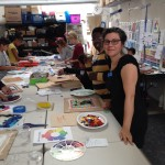co-creating mosaic art community art community mosaic glass mosaic glass mosaic mural how to make mosaics mosaic classes instruction mosaic mural mural art Nature Mosaics school art mosaic youth mosaics  Youth Art Camp Mosaics 2014-07-08-10.38.30-150x150