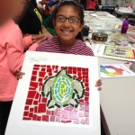 co-creating mosaic art community art community mosaic glass mosaic glass mosaic mural how to make mosaics mosaic classes instruction mosaic mural mural art Nature Mosaics school art mosaic youth mosaics  Youth Art Camp Mosaics 2014-07-10-11.07.35-150x150