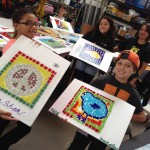 co-creating mosaic art community art community mosaic glass mosaic glass mosaic mural how to make mosaics mosaic classes instruction mosaic mural mural art Nature Mosaics school art mosaic youth mosaics  Youth Art Camp Mosaics 2014-07-10-11.13.03-150x150