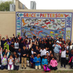 architectural mosaics co-creating mosaic art community art community mosaic glass mosaic glass mosaic mural large scale art big art mosaic classes instruction mosaic mural mural art mystical mosaic art planet friendly art public mosaic art school art mosaic youth mosaics  School Mosaic Mural - Patterson Elementary patterson_group_waving-150x150